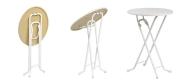Runde borde KLAP-O-MATIK ståbord med Ø90 cm bordplade
