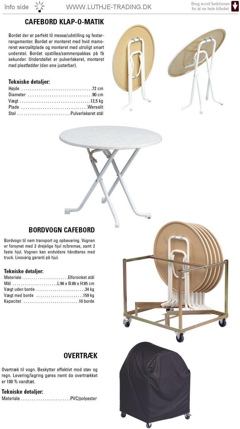 Rundt bord KLAP-O-MATIK L